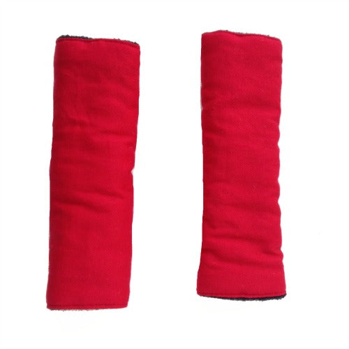 Red Reversible harness strap covers / shoulder pads