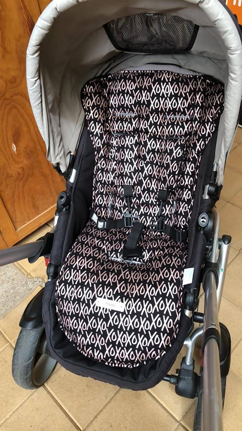 CUSTOM ORDER Reversible pram liner - Steelcraft Cruiser