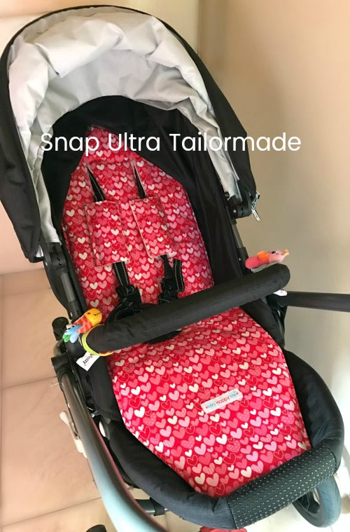 CUSTOM ORDER Reversible non slip pram liner - Valco Snap Ultra 2015, 2016, 2017 and Tailormade