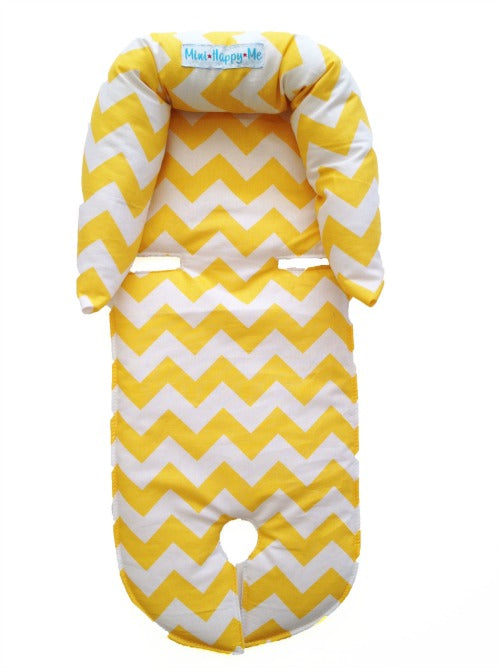 Yellow Chevron infant newborn to 4 months head support - head hugger