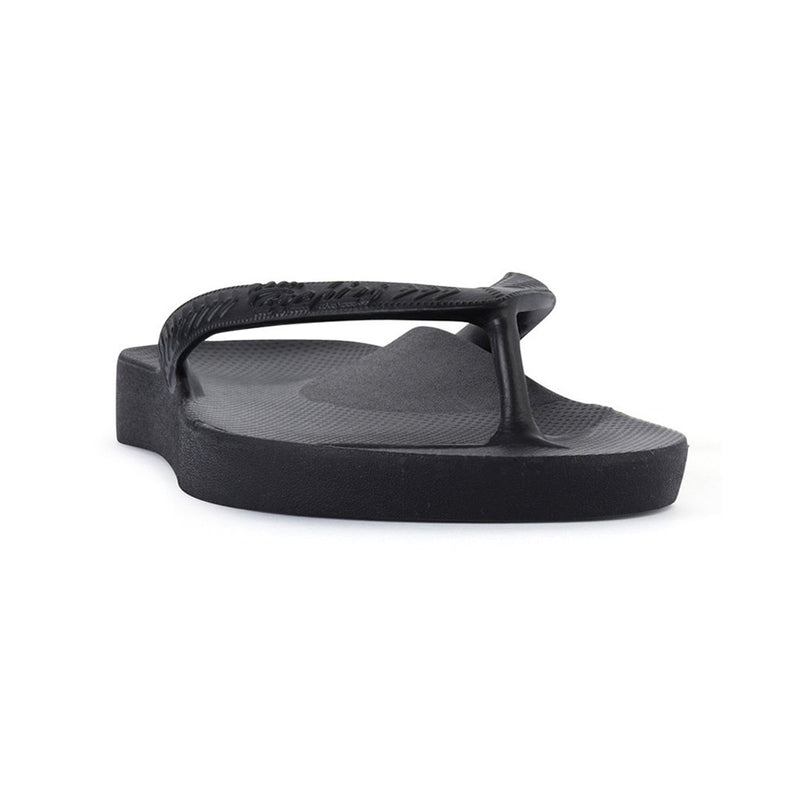 ARCH SUPPORT THONGS - BLACK