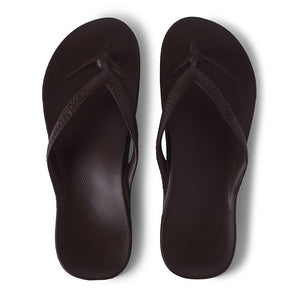 ARCH SUPPORT THONGS - BROWN