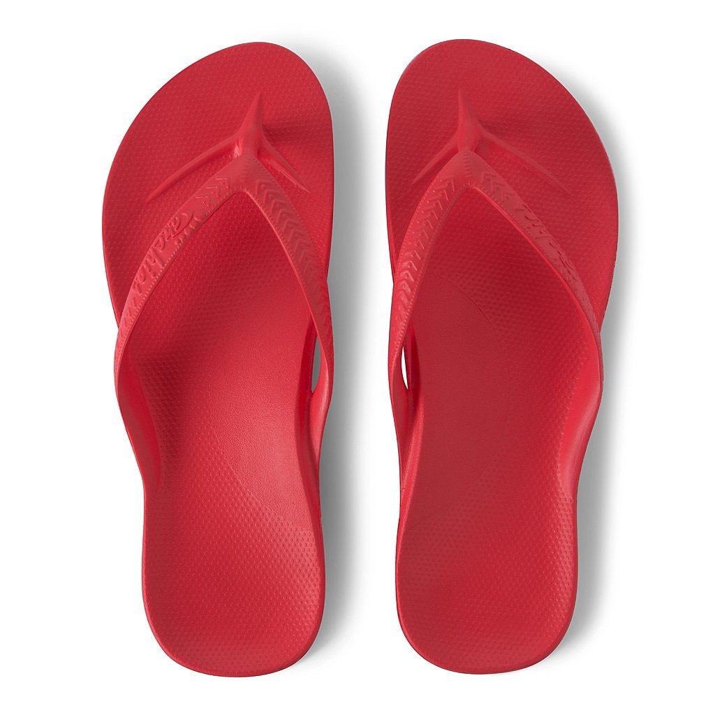 ARCH SUPPORT THONGS - CORAL