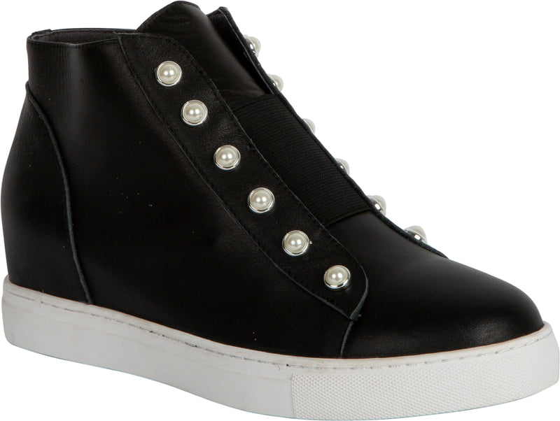 HIGH PEARL SHOE - BLACK