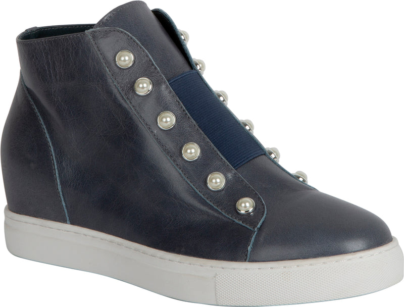 HIGH PEARL SHOE - BLUE DENIM