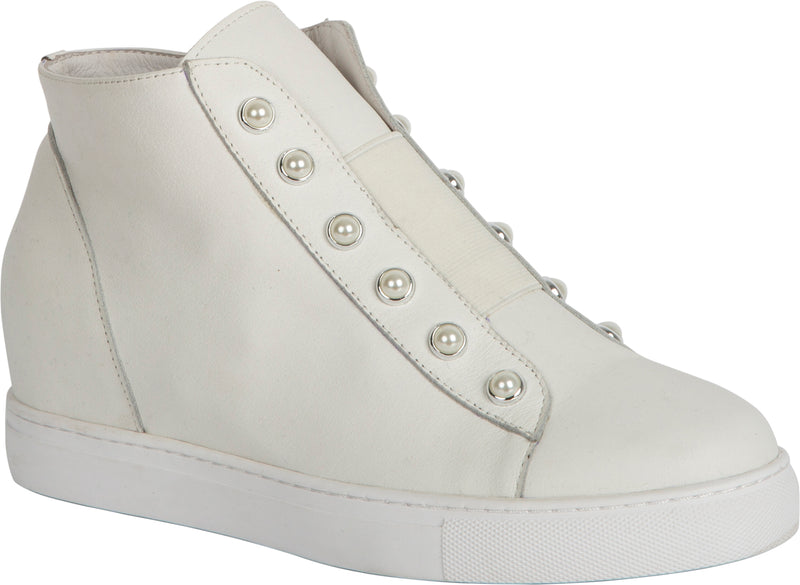 HIGH PEARL SHOE - CREAM/WHITE