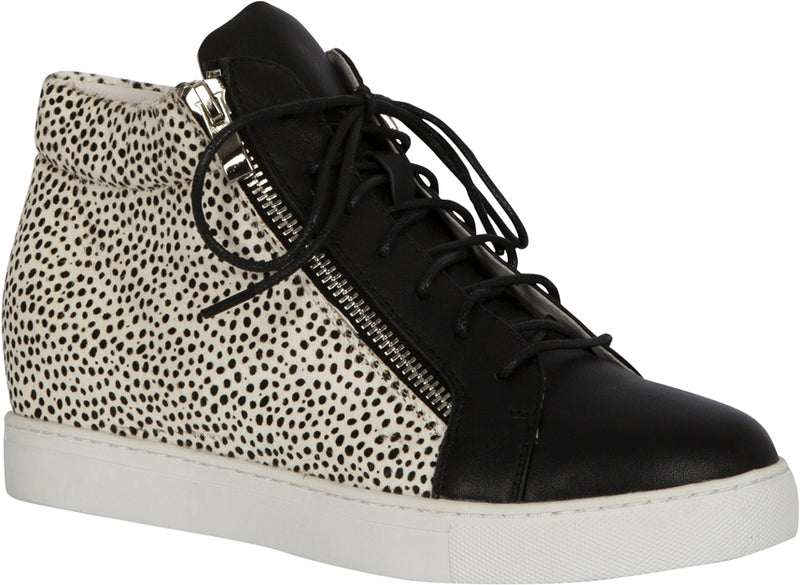MEMPHIS SHOE - BLACK/WHITE PONY