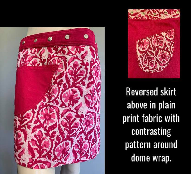 Miss CandyKitten Reversible Wrap Skirt - Length 17""