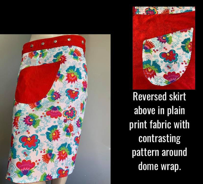 SECONDS - Miss Funtasia Reversible Wrap Skirt - Length  23""