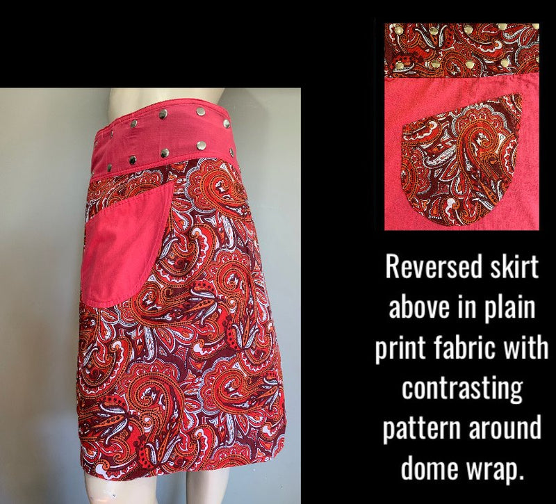 Miss Gypsy Reversible Wrap Skirt - Length 23""