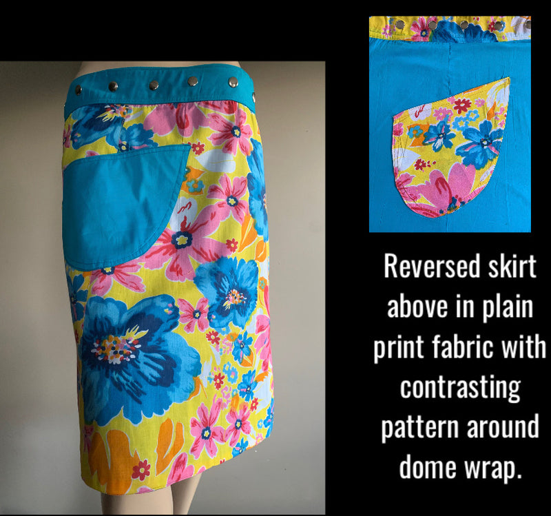 Miss Juniper Reversible Wrap Skirt - Length 23""