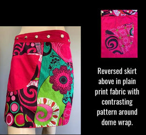 Miss Popping Reversible Wrap Skirt