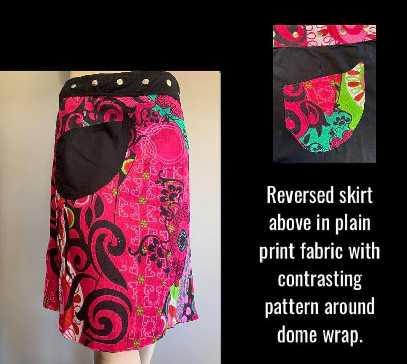Miss Popstar Reversible Wrap Skirt
