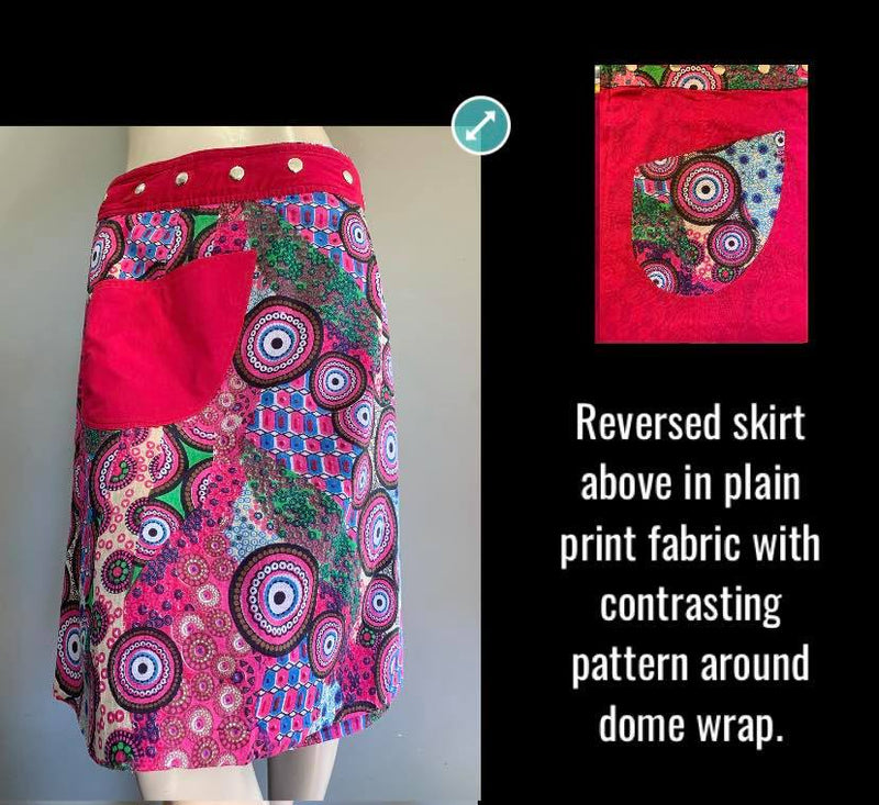 Miss Spiralpop Reversible Wrap Skirt