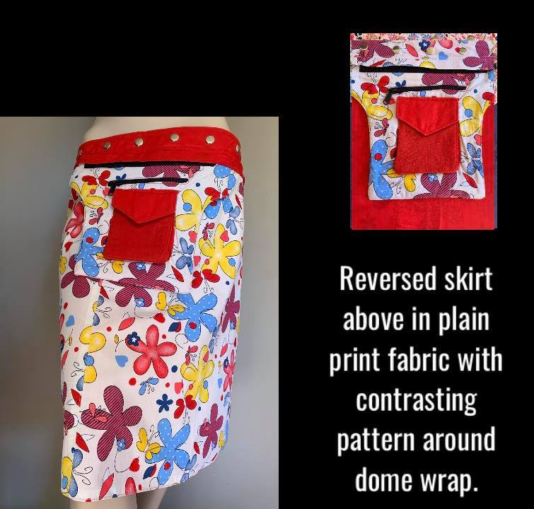 Miss Sunshining Reversible Wrap Skirt