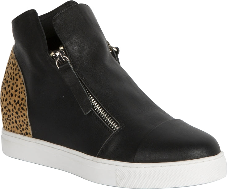 MOSELLE SHOE - BLACK/LEOPARD PONY