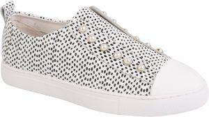 PEARL SHOE - BLACK AND WHITE SPOT