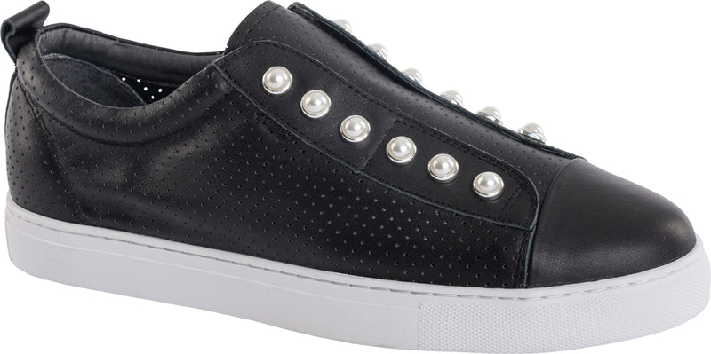PEARL SHOE (PERFORATED) - BLACK