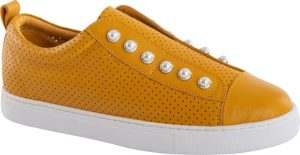 PEARL SHOE (PERFORATED) - MUSTARD