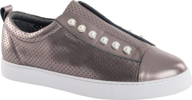 PEARL SHOE (PERFORATED) - PEWTER