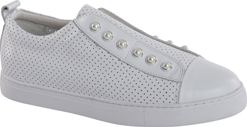 PEARL SHOE (PERFORATED) - WHITE