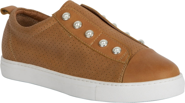 PEARL SHOE (PERFORATED) - LIGHT TAN