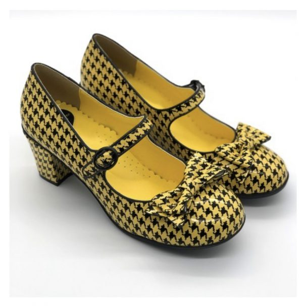 Pop Houndstooth Yellow