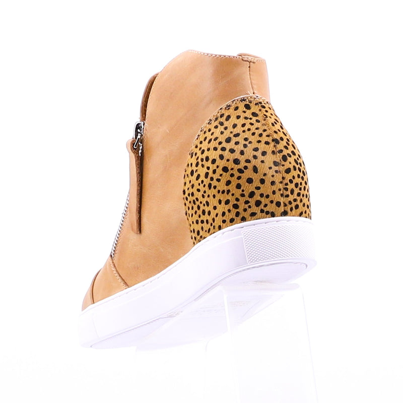 MOSELLE SHOE - TAN/LEOPARD PONY