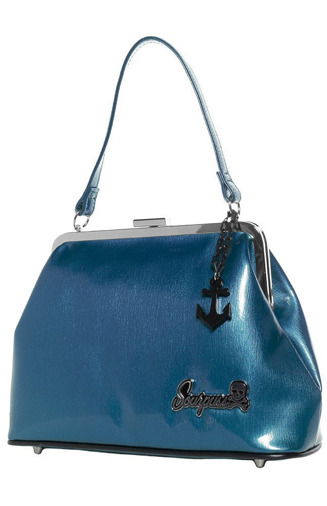 SOURPUSS BETSY ANCHOR PURSE BLUE