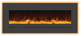 "48"" BUILT-IN/WALL MOUNTED LINEAR BLACK ELECTRIC FIREPLACE (WM‐FML‐48-5523‐STL)"