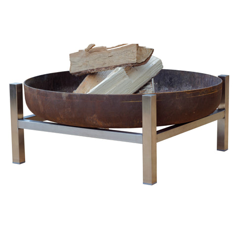 Parnidis Stainless Steel Wood Fire Pit