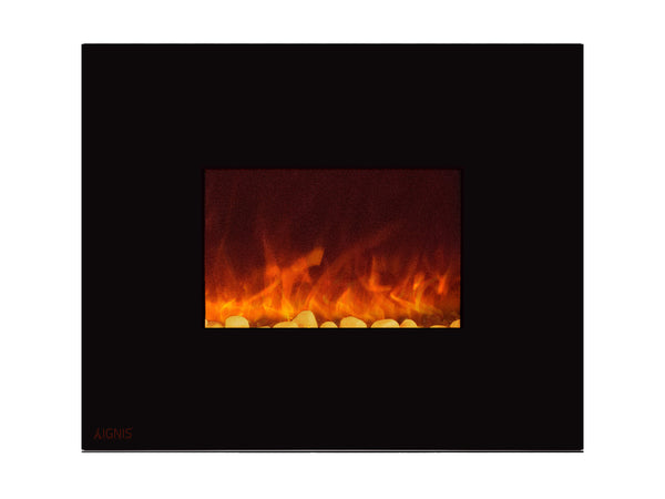 Royal - Wall Mount Electric Fireplace with Pebbles - 36 inch