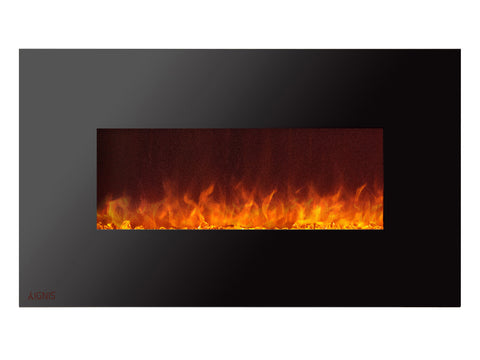 Royal - Wall Mount Electric Fireplace with Crystals - 50 inch