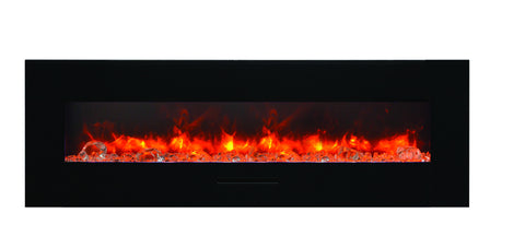 60″ Wall Mount / Flush Mount Electric Fireplace.
