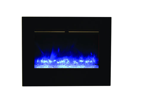 "AMANTII 26"" BUILT-IN FLUSH MOUNT ZERO CLEARANCE ELECTRIC FIREPLACE"