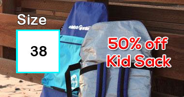 38 inch bodyboards get 50% off kid sack