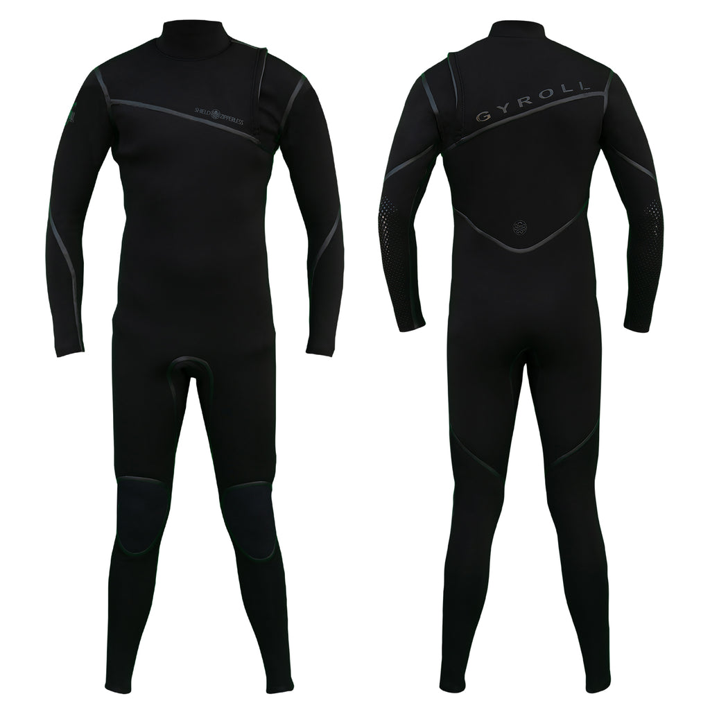 Mike Stewart Gyroll Zipper less Shield LS 3/2mm Fullsuit - Black