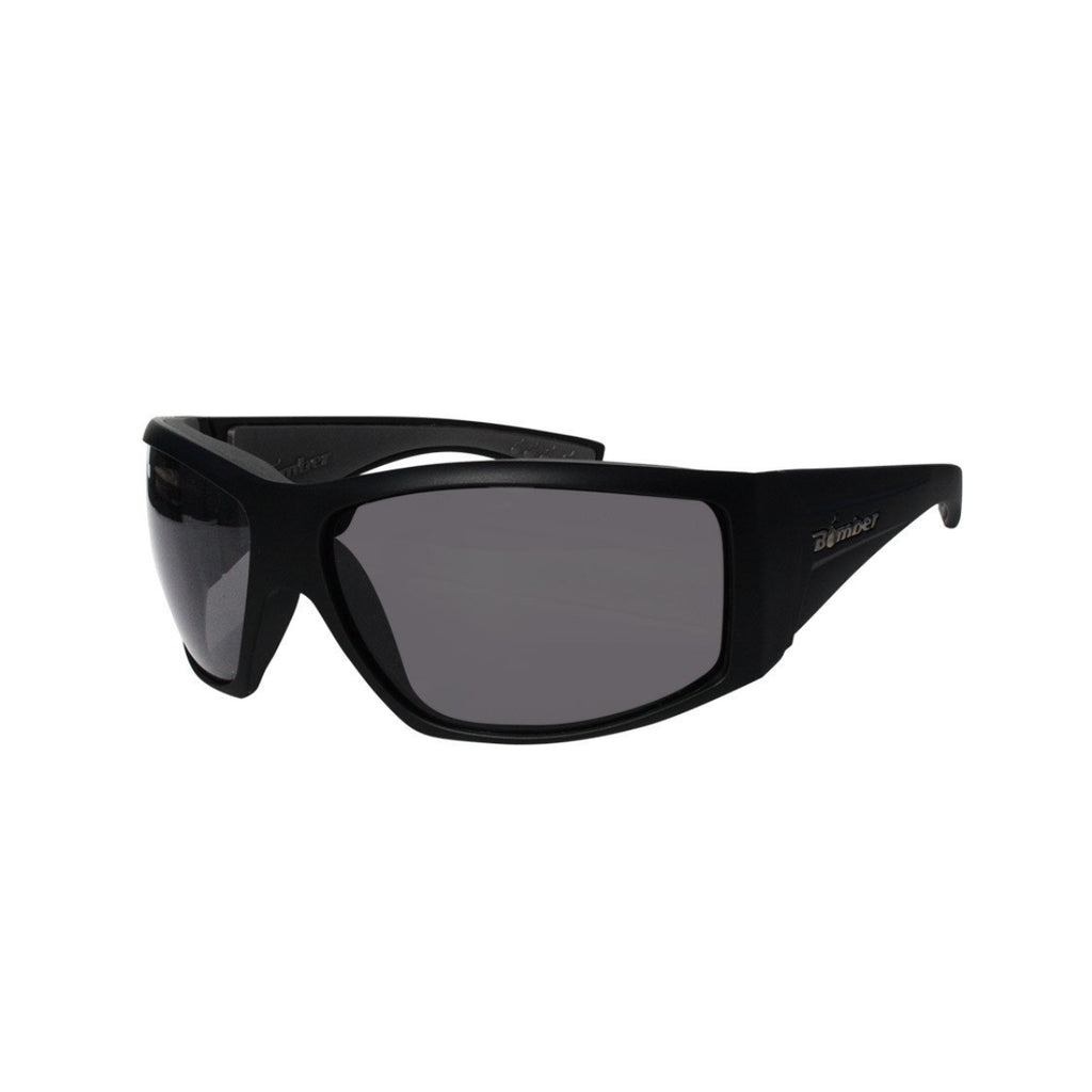Bomber Sunglasses - Ahi Bomb Matte Black Frm / Smoke Pc Safety Lens / Gray Foam