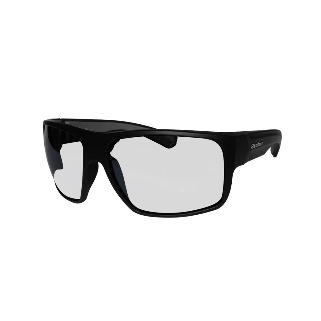 Bomber Sunglasses - Mana Bomb Matte Black Frm / Clear Pc Safety Lens / Gray Foam