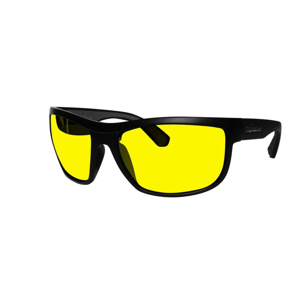 Bomber Sunglasses - Hub Bomb Matte Black Frm / Yellow Pc Safety Lens / Gray Foam