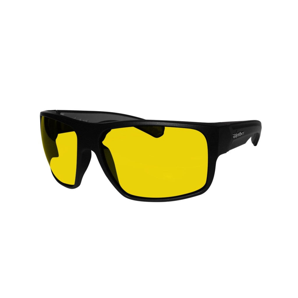 Bomber Sunglasses - Mana Bomb Matte Black Frm / Yellow Pc Safety Lens / Gray Foam