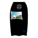 Custom X Bull PP Bat Tail Bodyboard - Black deck, White rails, White bottom