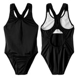 Junior Guard Girls One-Piece Racer Tank Swimsuit - BK-07