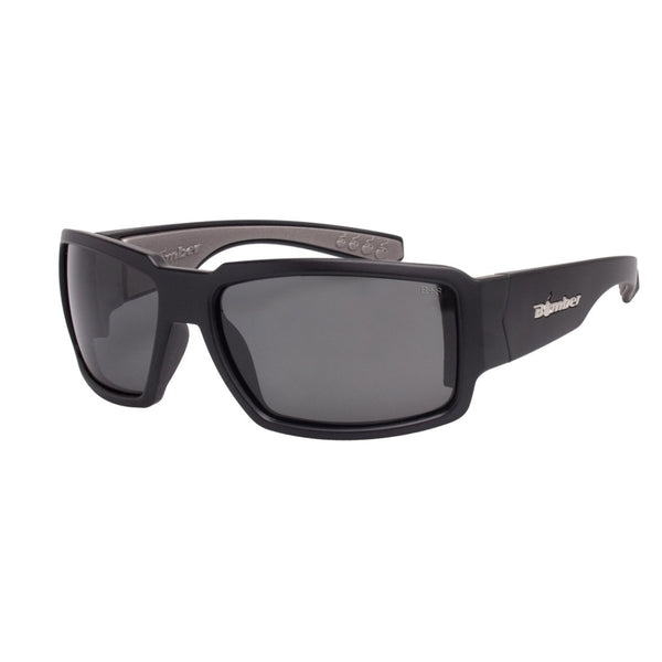 Bomber Sunglasses - Boogie Bomb Matte Black Frm / Smoke ANSI Z87+ safety Lens / Gray Foam