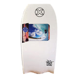 Custom X Bull PP 42.25 BT Bodyboard - White deck, White rails, White Bottom