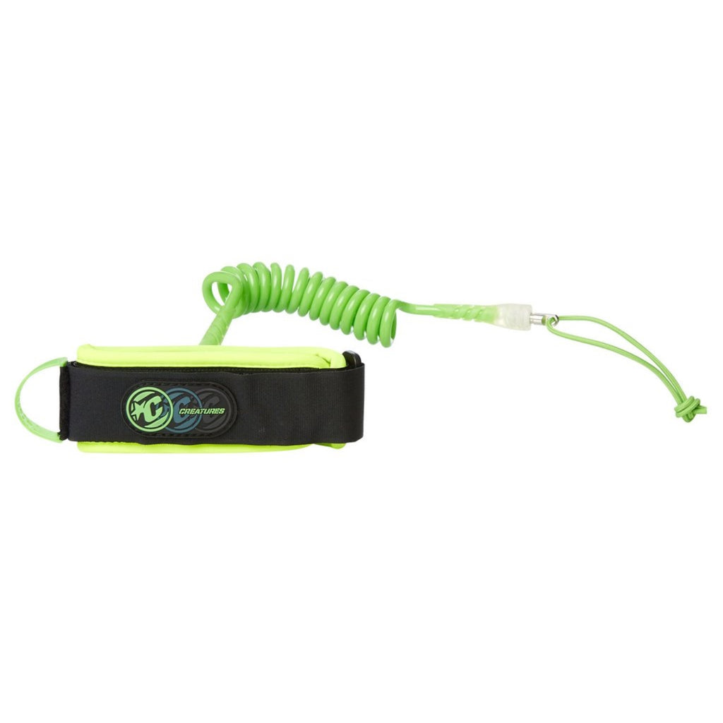 Creatures of Leisure Ryan Hardy 2017 Large Bicep Leash Lime Green coil, Black Cuff