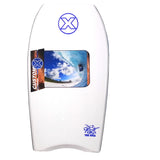 Custom X Bull PE 42.25 CR Bodyboard - White deck, White rails, White Bottom