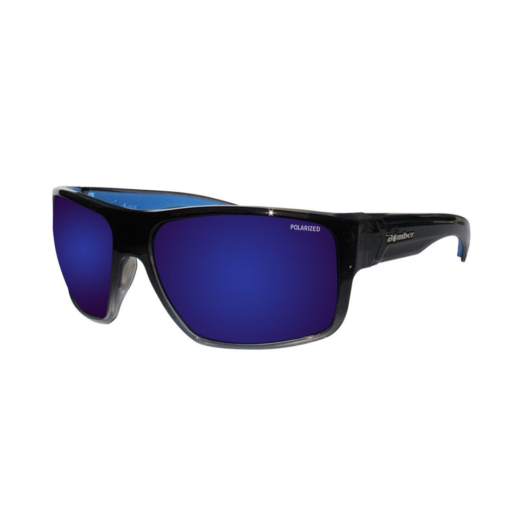 Bomber Sunglasses - Mana Bomb 2 Tone Smoke Frm / Blue Mirror Polarized Lens / Blue Foam