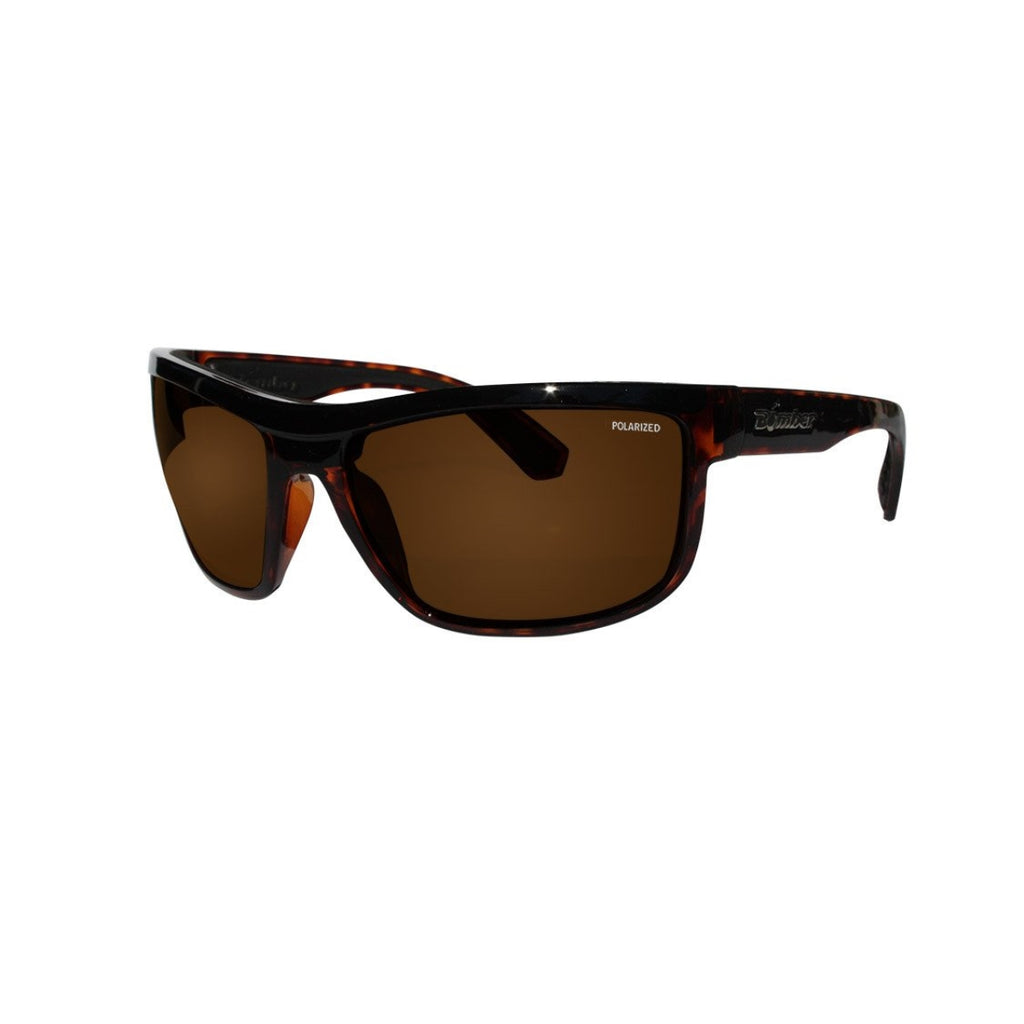 Bomber Sunglasses - Hub Bomb Shiny Tortoise Frm / Brown Polarize Lens / Black Foam