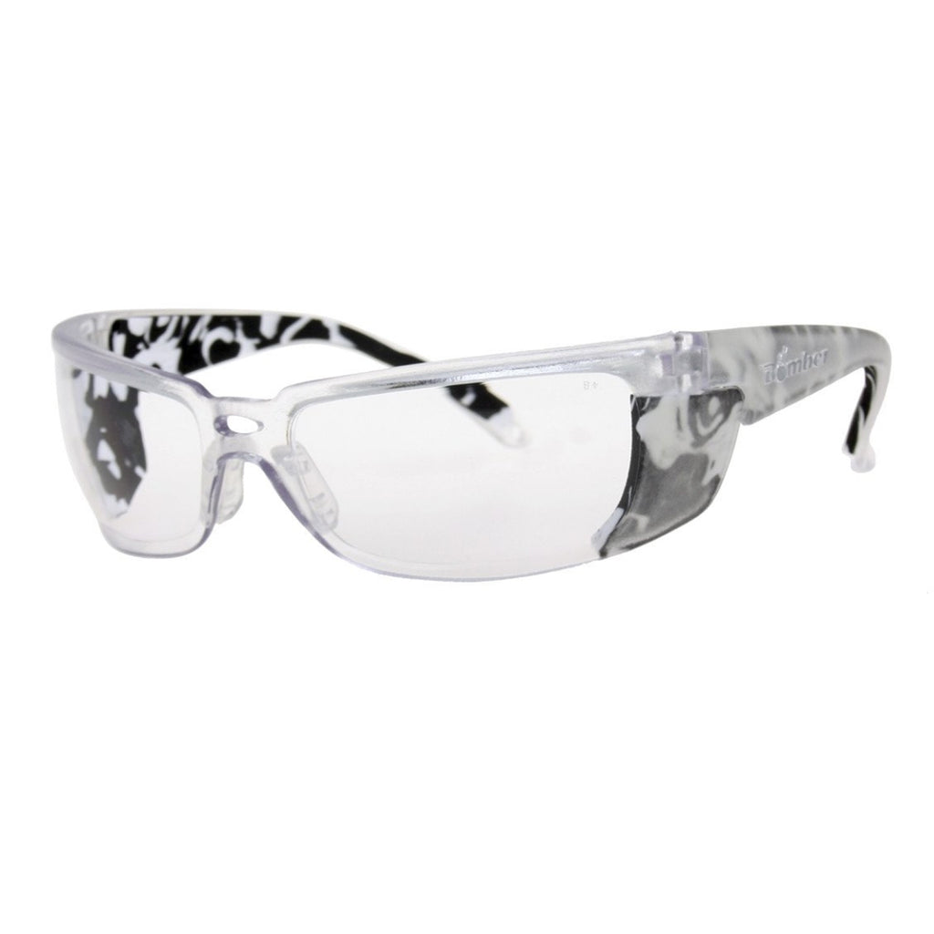 Bomber Sunglasses - Z Bombs Clear Safety W/ Foam